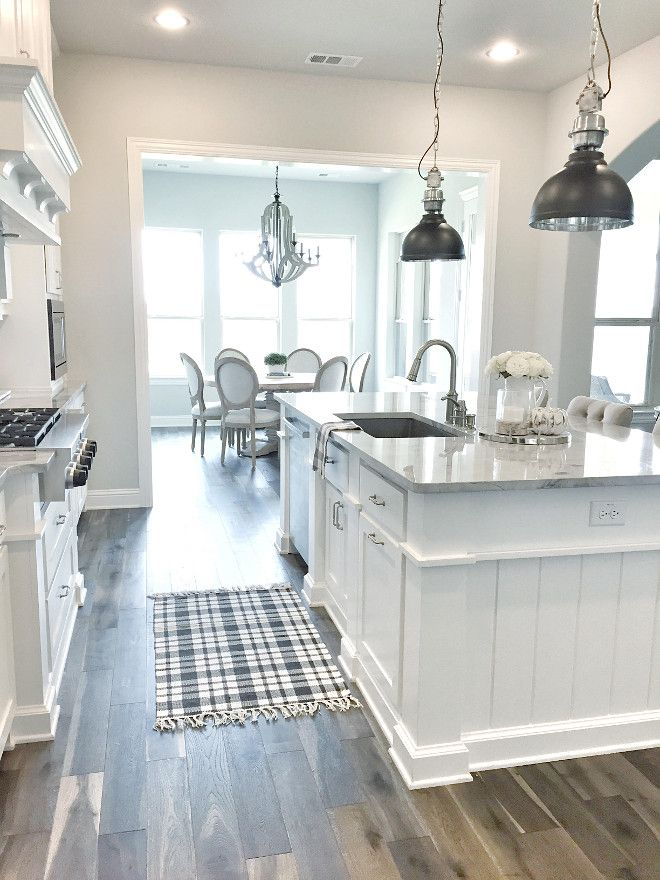 White & Pale Grey Contemporary Farmhouse Style Kitchen | House