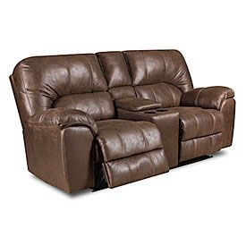 Stratolounger Stallion Reclining Loveseat Leather Reclining
