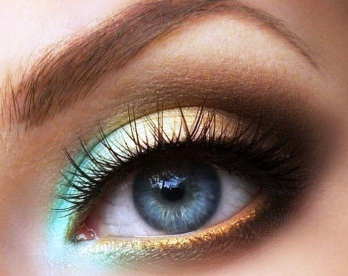Schones Augen Make Up Blaue Augen Mit Langen Wimpern Make Up