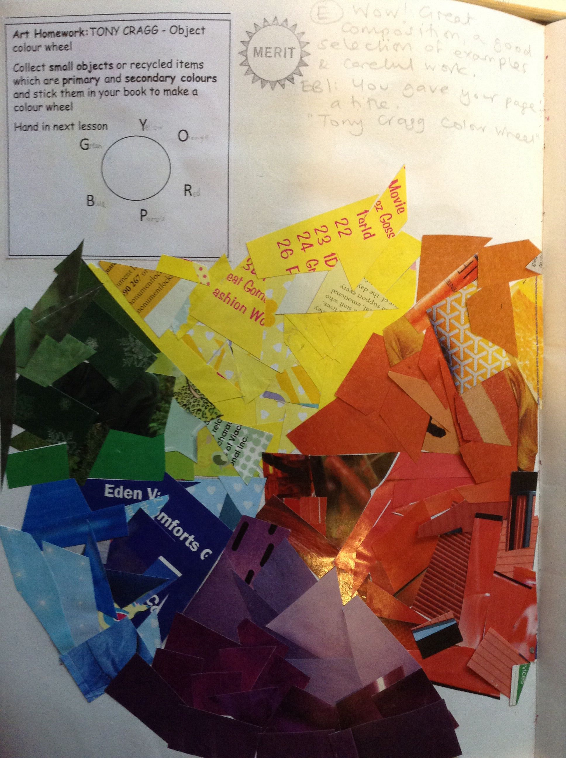Collage colour wheel | Color - Here we go around in circles ...