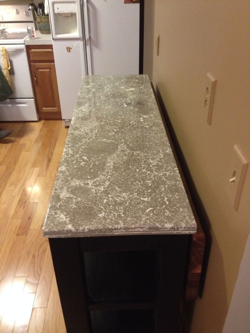 Custom Pressed Concrete Countertop For That Veined Marble Style Look Modern Country Concepts Concrete Countertops Concrete Diy Projects Countertops