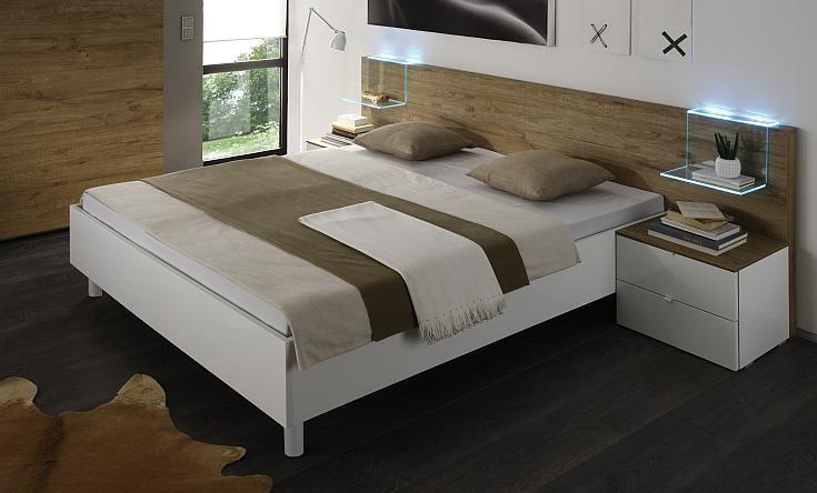 Testiera letto rivestita in legno/parquet Stanze da