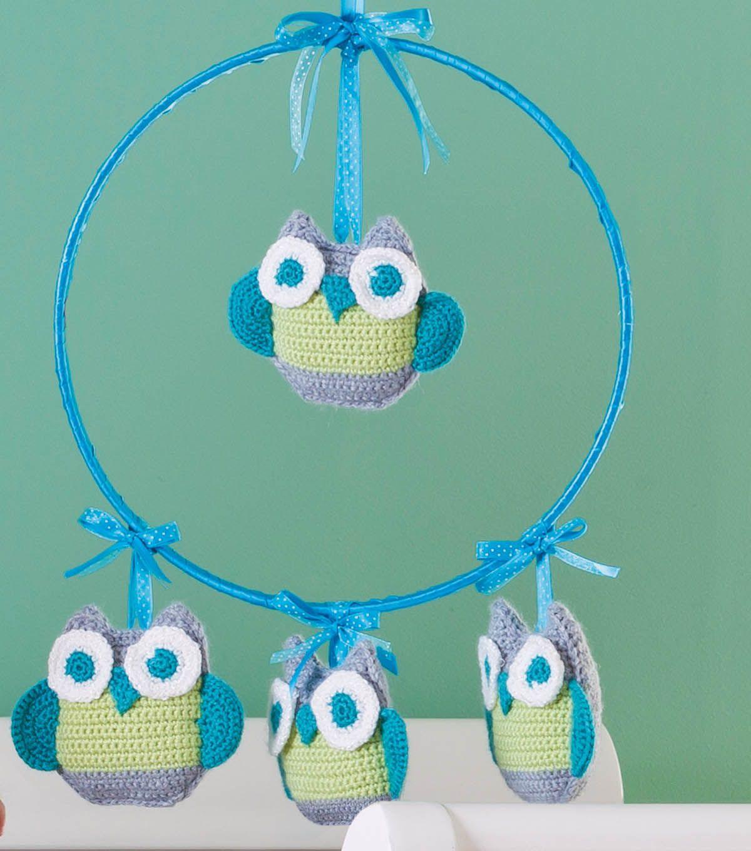 Crochet Owl Mobile FREE pattern, cute! thanks so xox | CROCHET OWLS ...
