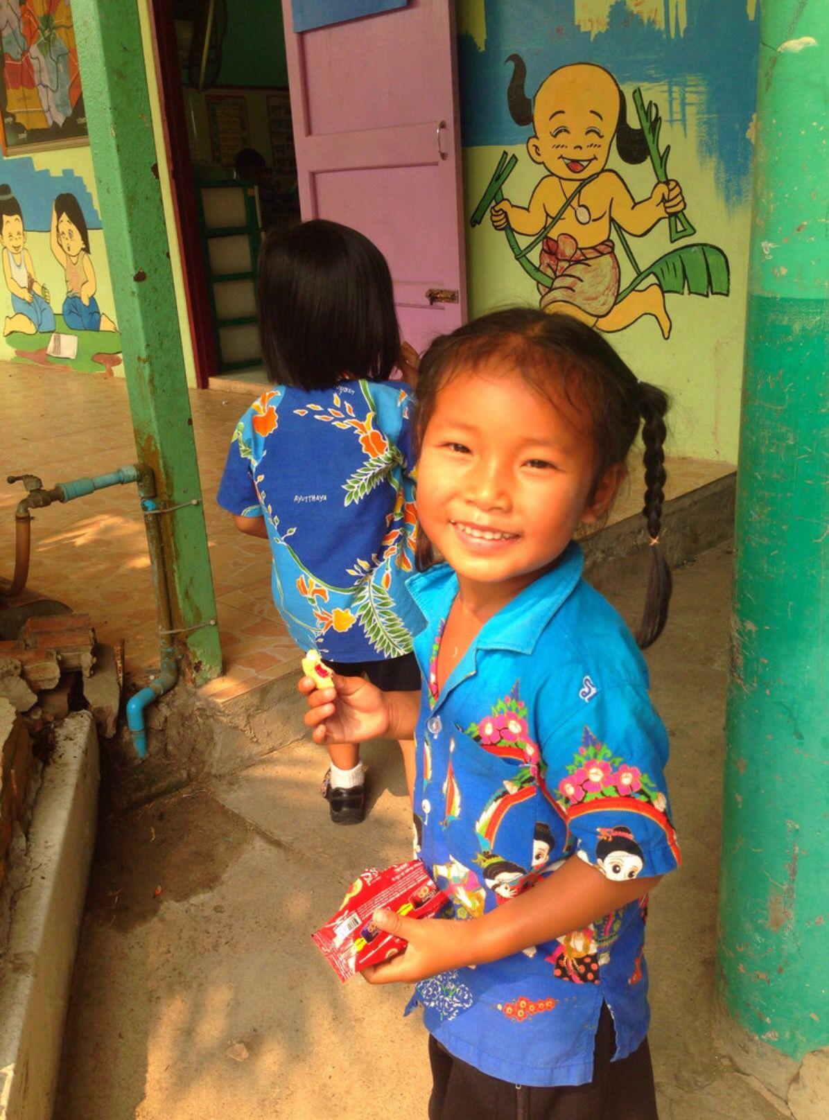 Visiting school in Ayutthaya. Thailand.