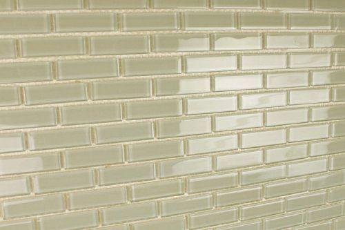 White Sea Gl Tile Backsplash Kitchen Foam Lite Solid Color Subway Mosaic