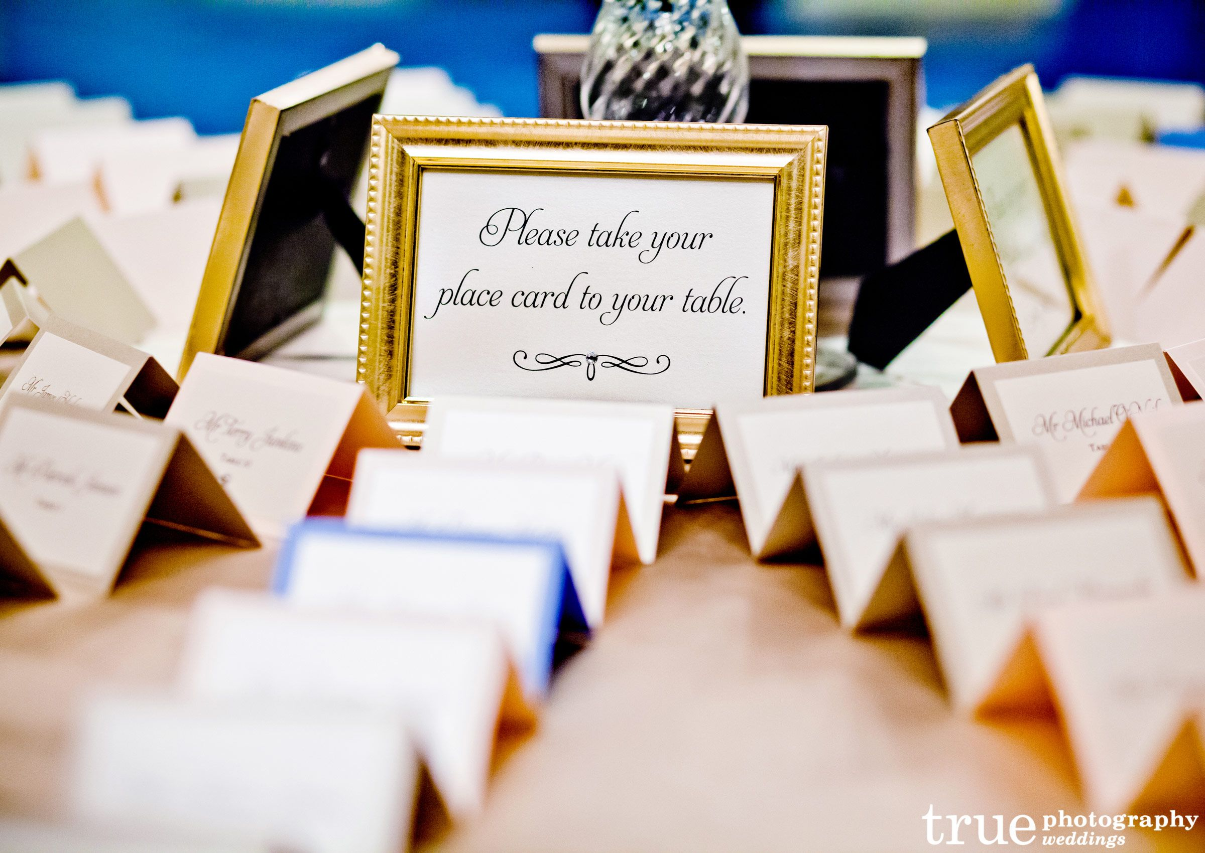 T Creative Wedding Reception Place Card Display Ideas