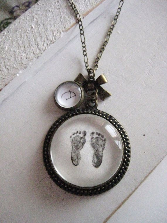 Tiny Feet Necklace Footprint Necklace By