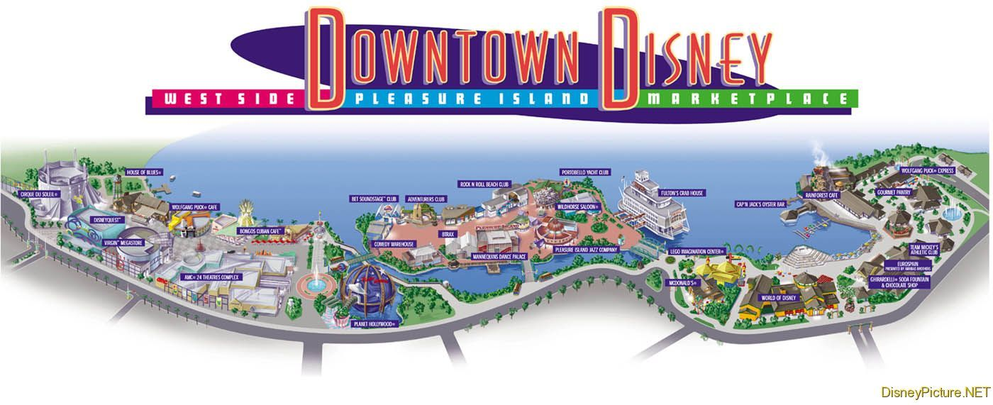 Downtown Disney map cannot wait to go shopping