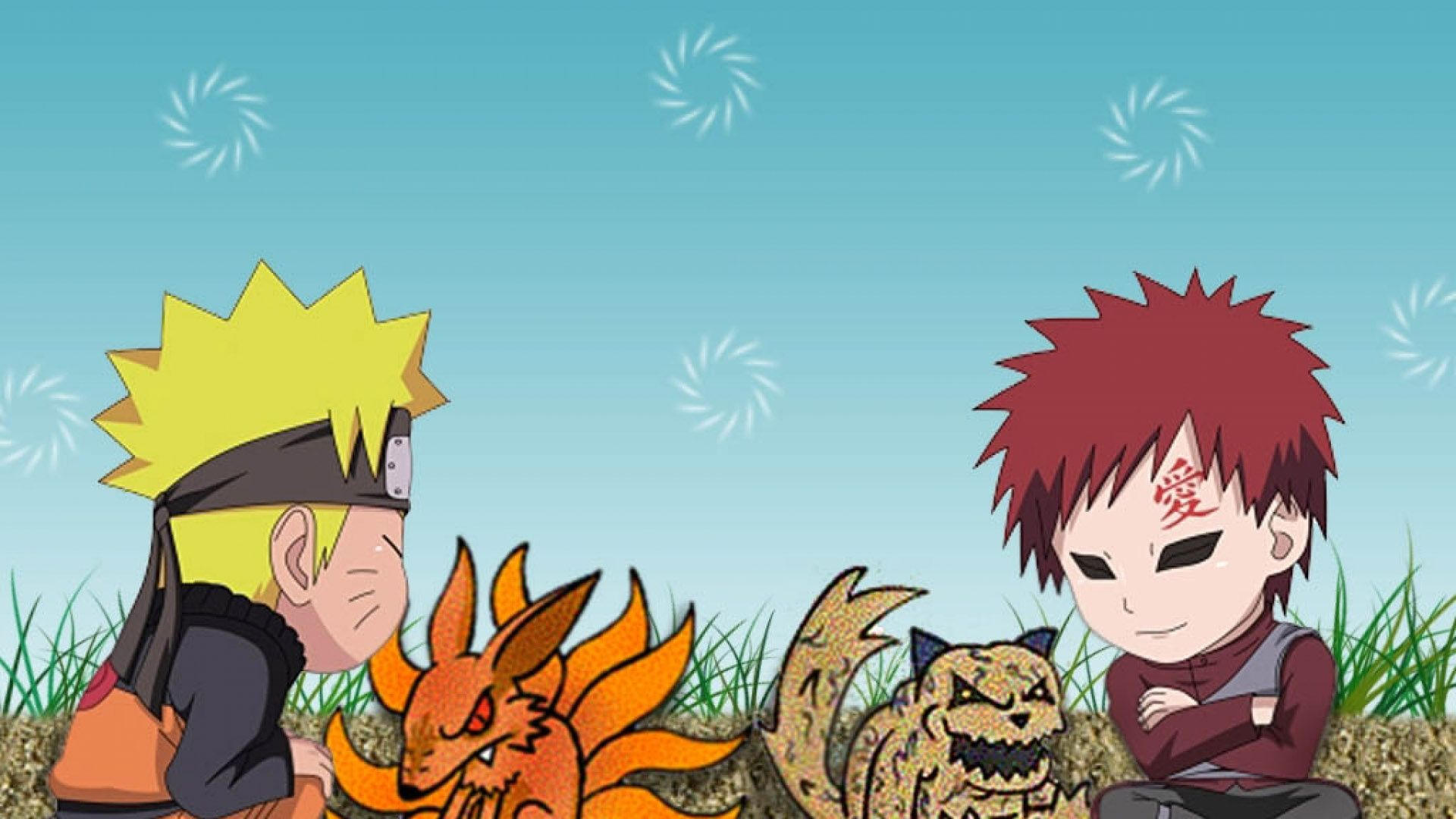 Chibi Naruto And Gaara Wallpaper Hd Wallpapers 1080p Chibi Wallpaper Cute Anime Chibi Anime Backgrounds Wallpapers