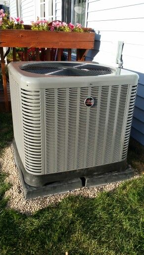 Ruud 16 Seer Air Conditioning System Installed In Hoffman Estates