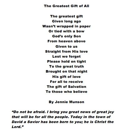 The greatest gift a christmas poem easter speeches pinterest the greatest gift a christmas poem negle Images