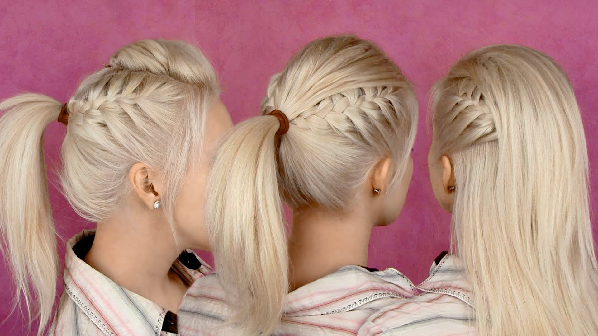 Hairstyles for party and everyday braided half updo and ponytail