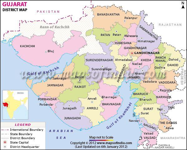 Gujarat districts map district maps pinterest gujarat districts map gumiabroncs Image collections