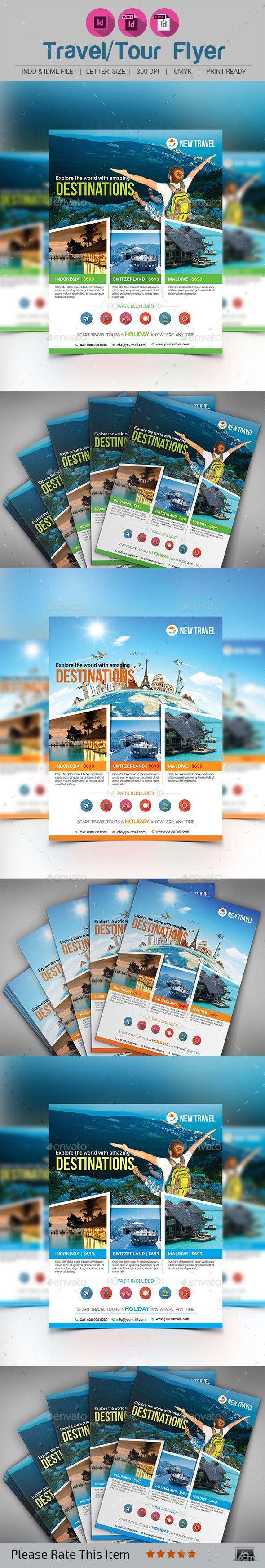 Holiday Traveltour Flyer Template Pinterest Flyer Template