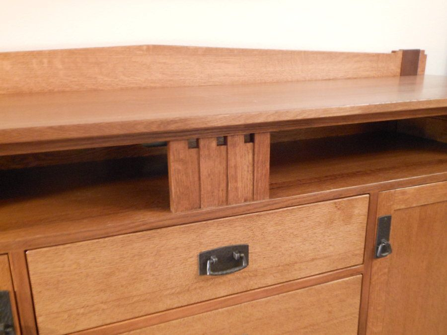 Wedge and Strap Sideboard / Entertainment Center - Reader's Gallery - Fine Woodworking