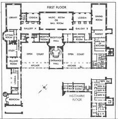 Oheka Castle Floor Plans   Google Search
