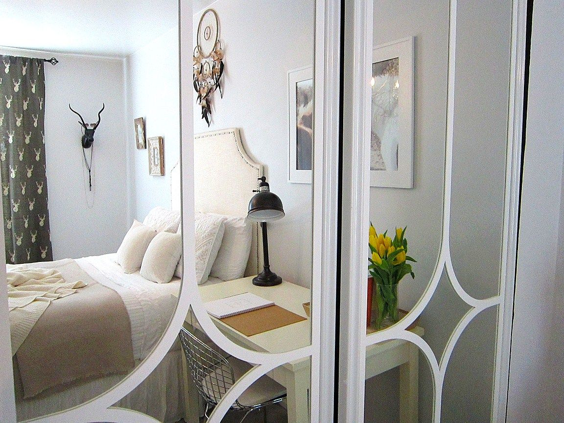 Design Mirrored Closet Doors mirrored closet door makeover hometalk makeover