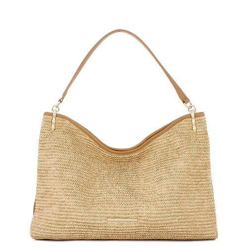 Jennie Natural Raffia Hobo - You'll be a natural beauty with the Tammy bag on your arm. Braided leather handles add comfort while multiple interior and exterior pockets keep all of your necessities organized and within reach.