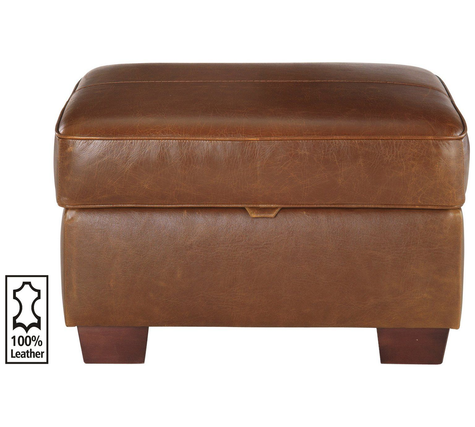 Tremendous Buy Heart Of House Salisbury Leather Storage Footstool Tan Short Links Chair Design For Home Short Linksinfo