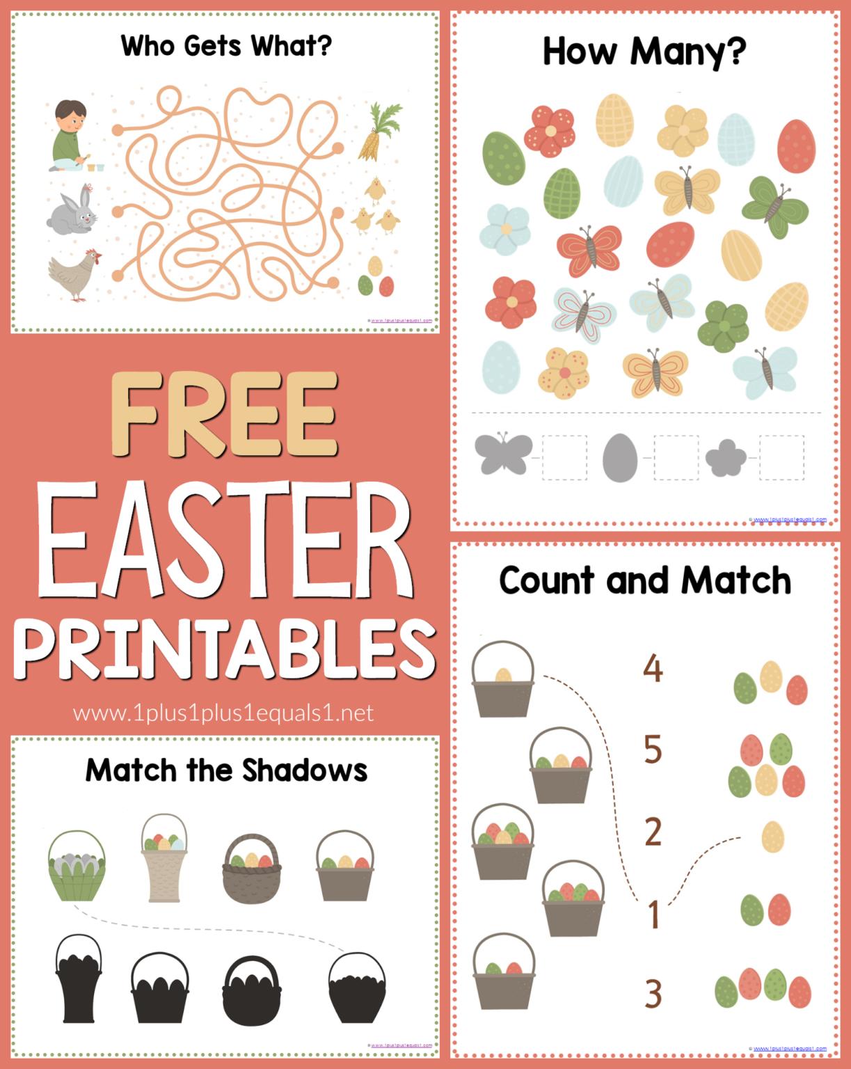 Ree Easter Printables 1plus1plus1 Homeschool