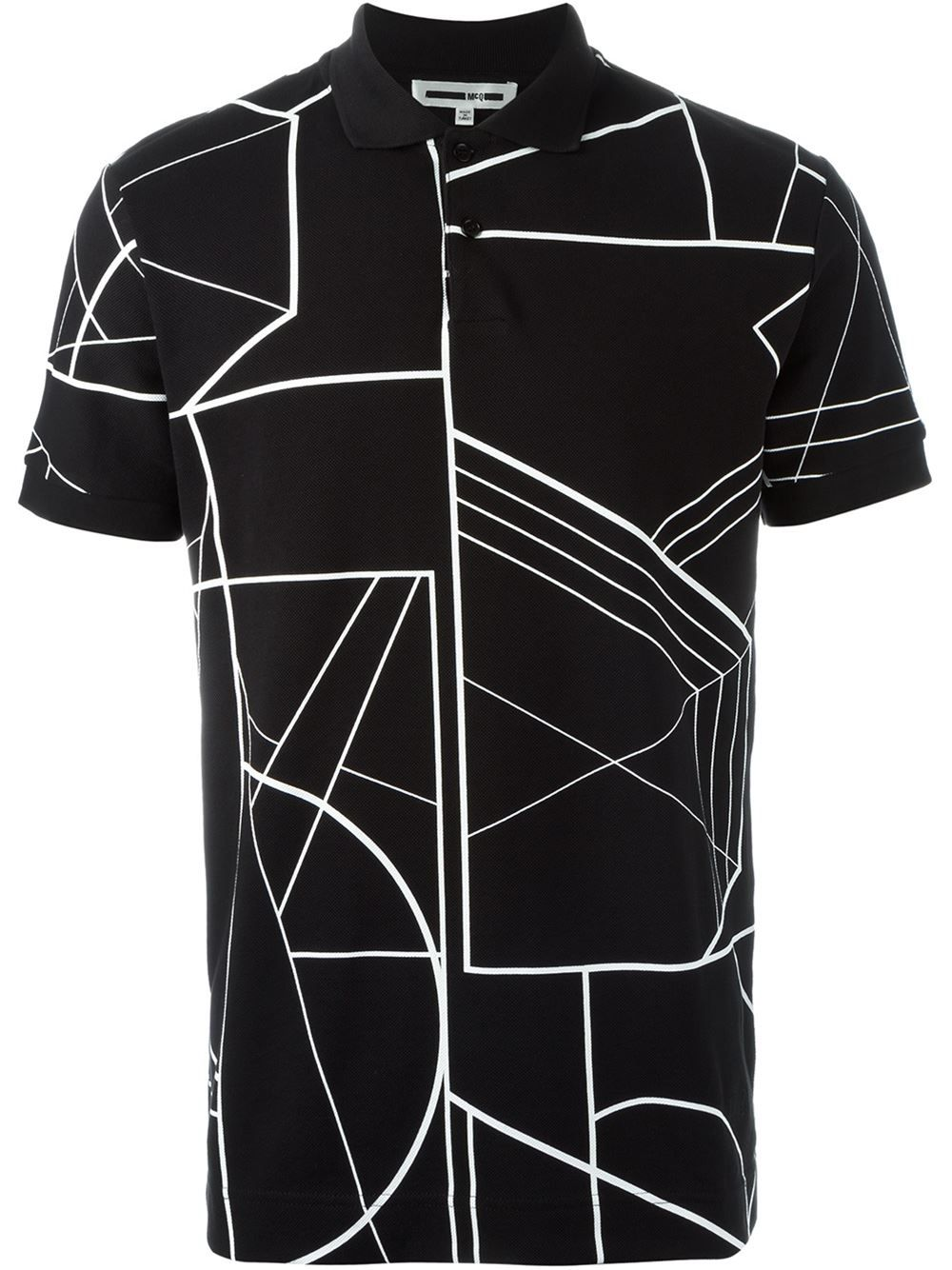 632db5e9b0 McQ Alexander McQueen Polo Con Estampado Linear Angle - Farfetch. Estampas Camisas ...