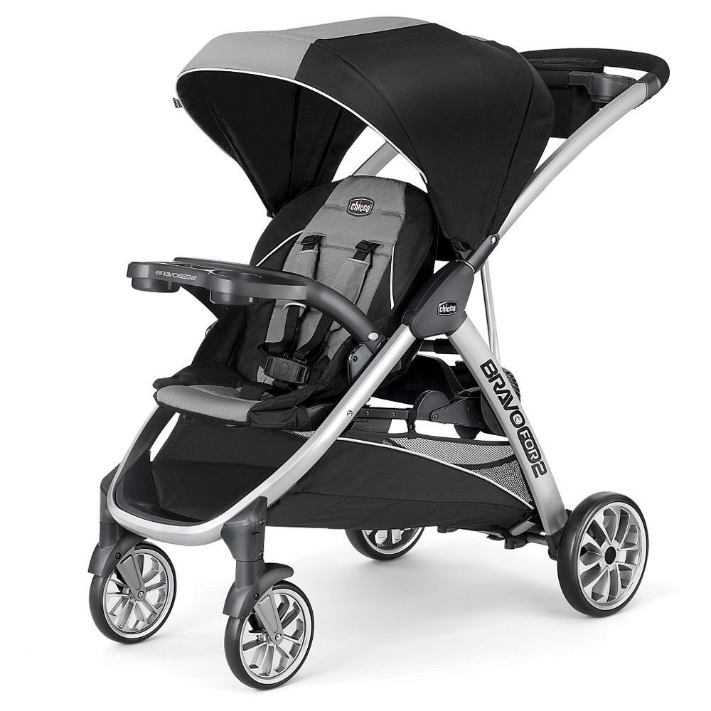 Chicco Bravo For 2 Double Stroller Zinc, Tan Discover how