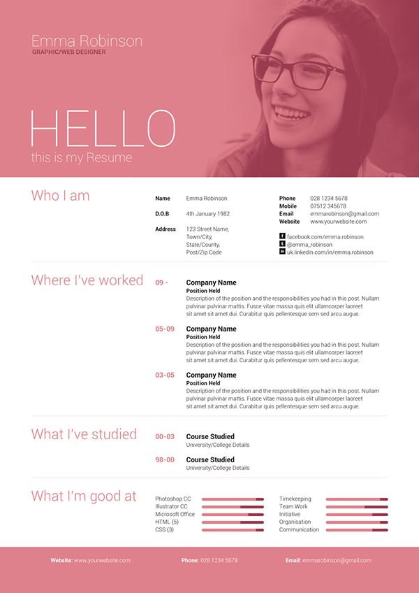 Simple yet high impact single page resume/cv and cover letter which - different resume templates