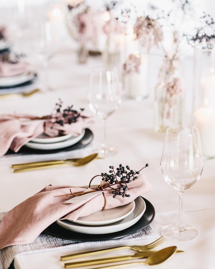 "186 Likes, 17 Comments - Ruby + James (@ruby_and_james) on Instagram: ""TABLE SETTING DETAILS.....a few months ago we teamed up with an incredible bunch of creative…"""