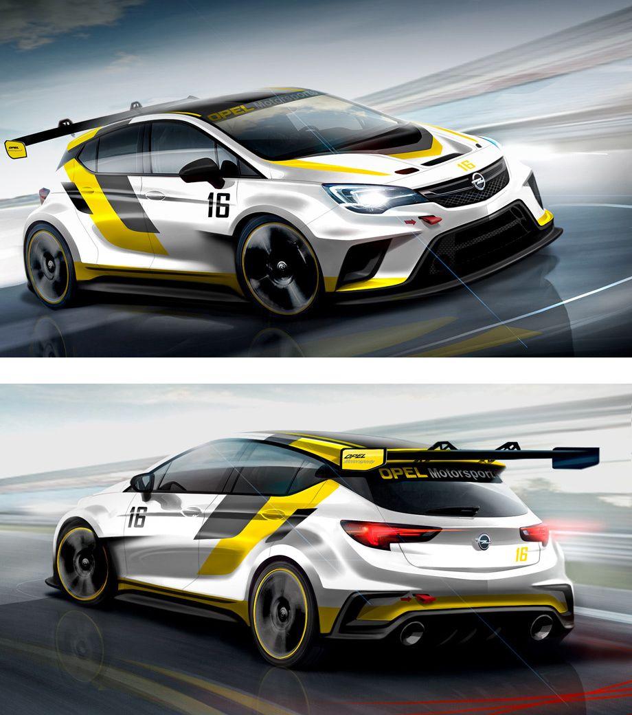 Opel Astra Motorsport Livery