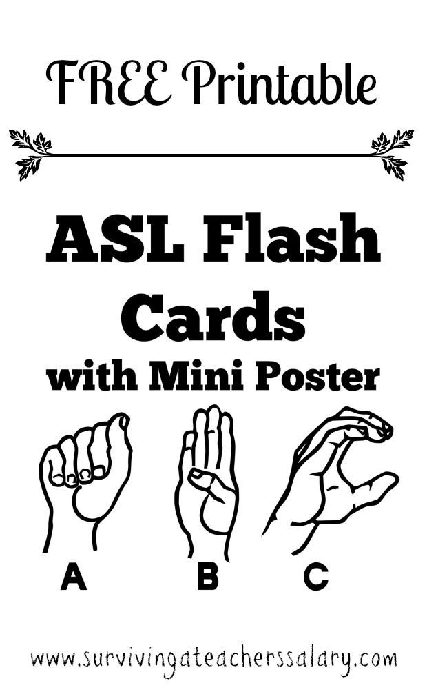 Free Printable Asl Alphabet Sign Language Flash Cards | Asl Sign