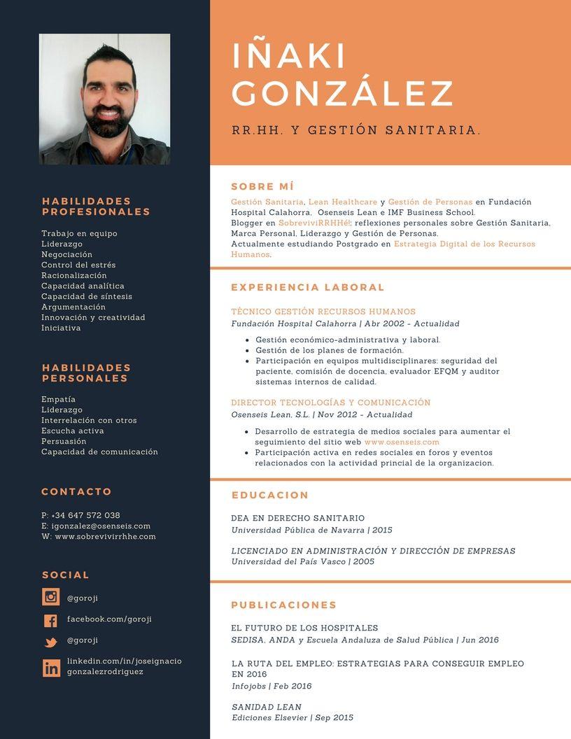 Cómo crear tu propio CV con Canva. Formato curriculum