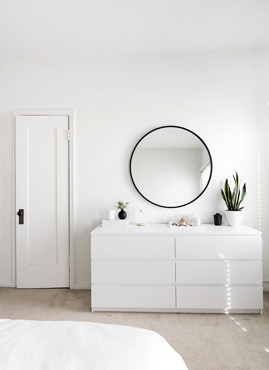 Bedroom organization progress minimal bedroom rowan and for Minimalist living pinterest