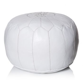 Moroccan Leather Pouffe From Oliver Bonas