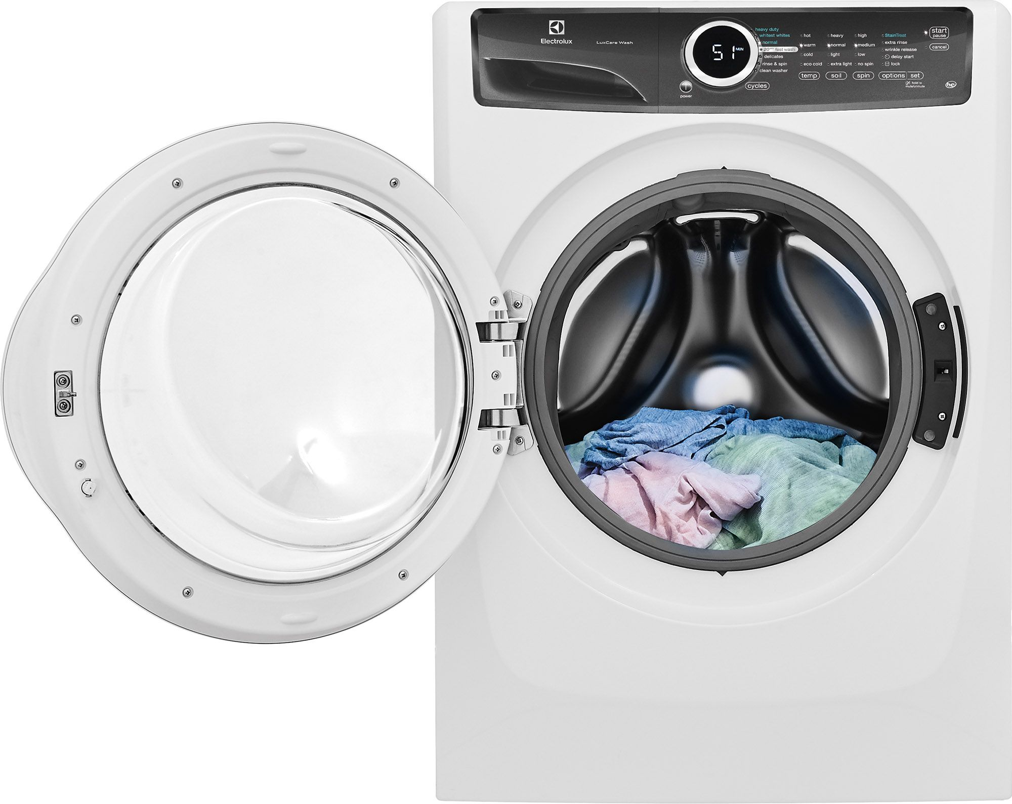 Electrolux 400 Series Front Load Washer White Eflw417siw White With 4 3 Cu Ft Capacity 15 Minute Fast Wash A Front Load Washer Laundry Laundry Appliances