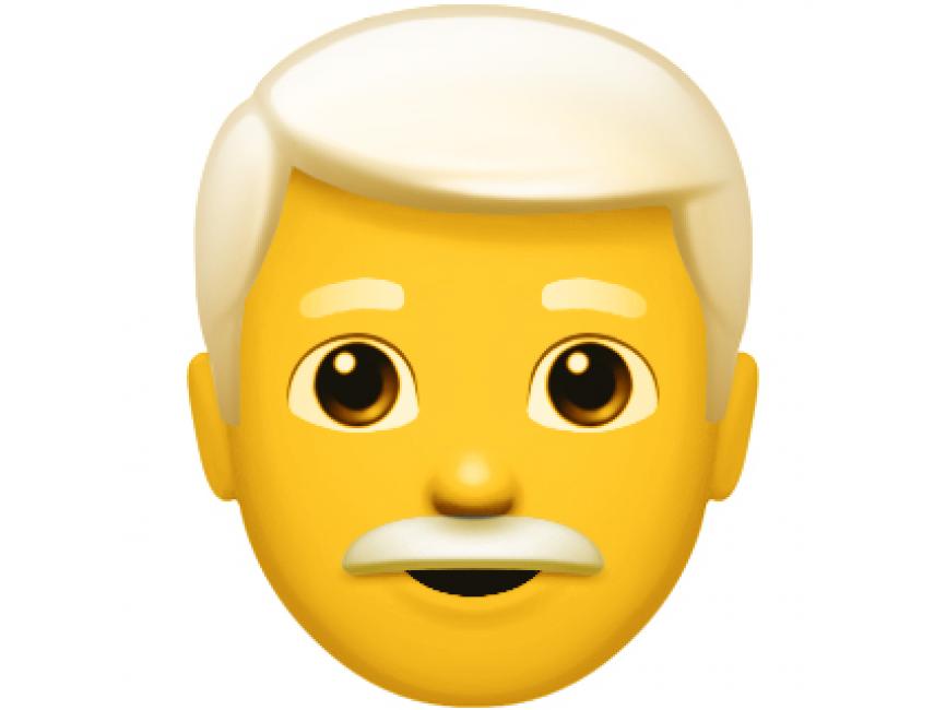 White Hair Men Emoji transparent image. Download free