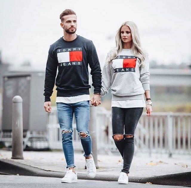 Tommy Hilfiger Tommy Jeans Sweater Couple Matching Manner Kleidung Anzug Mode Herren Stil