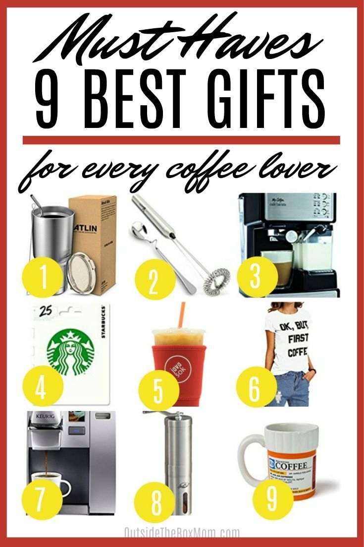 Gifts for Coffee Lovers (With images)   Coffee lover gifts, Mom gift guide, Gifts