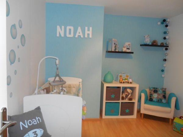 chambre taupe et turquoise chambre bb garon chambre - Chambre Turquoise Et Blanche