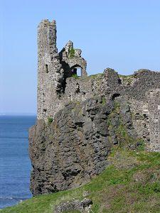 Dunure Castle. Coast of Scotland.