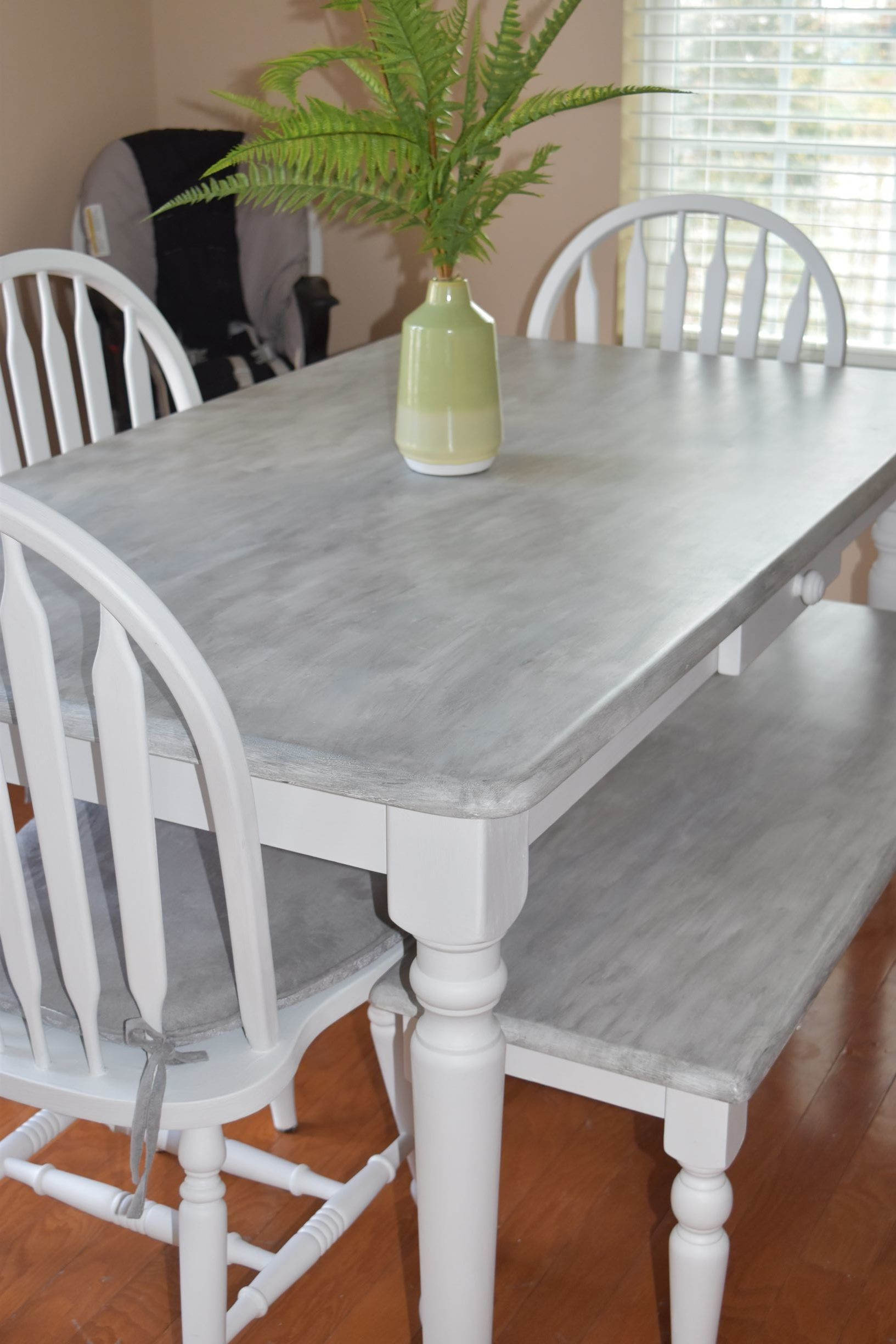 DIY chalk paint kitchen table makeover you will love ...