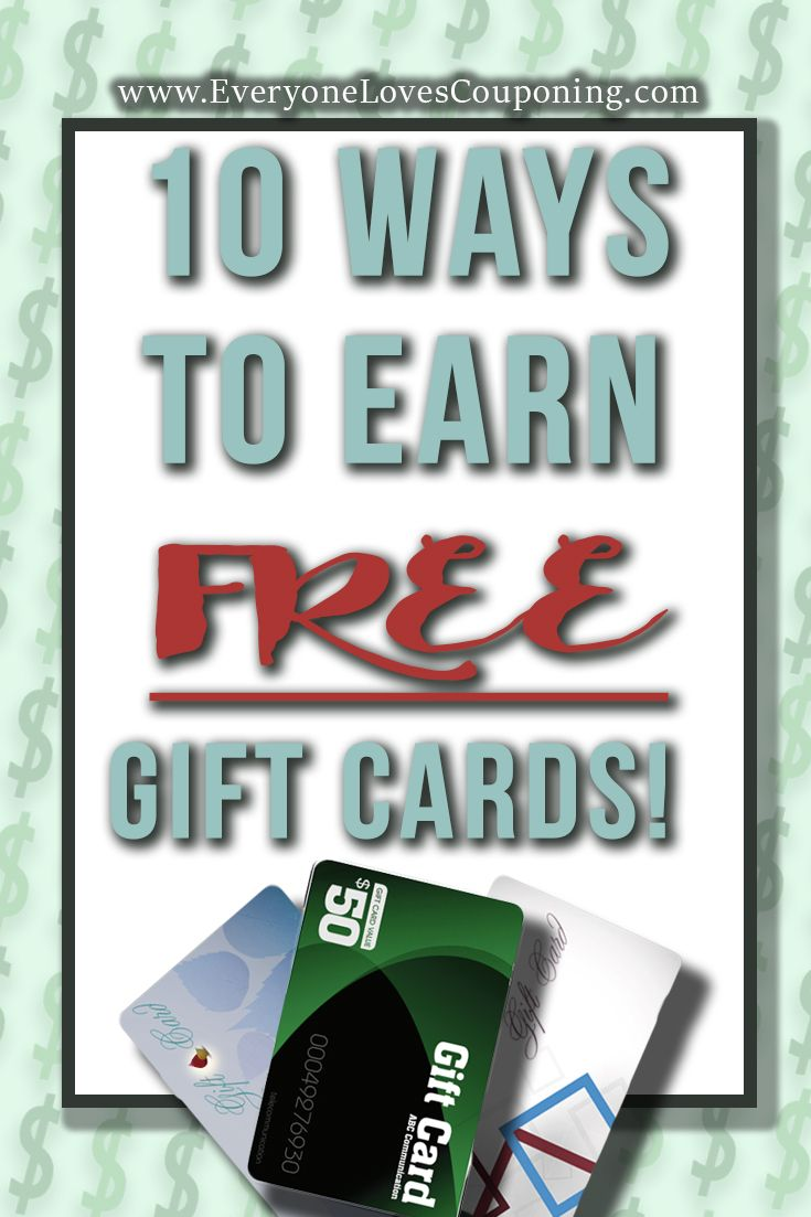 10 Legit Ways to Earn FREE Gift Cards