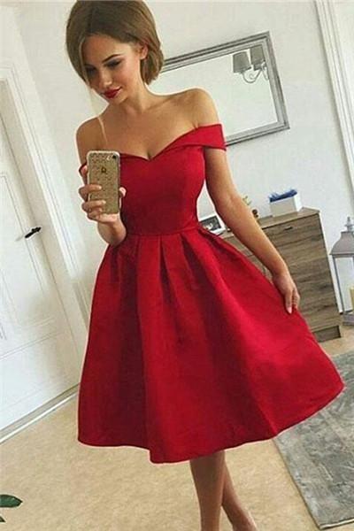 0dfe2107cbef Off Shoulder Short Prom Dress, Homecoming Dress #lacedress#homecomingdresses#homecoming#short