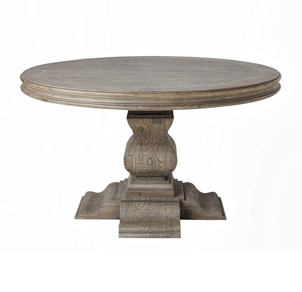 Rustic Grey Aspen Round Dining Table Western Dining Tables