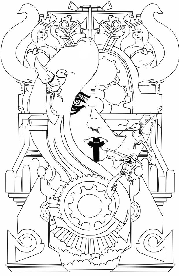 Art Deco Coloring Pages 619x956 Picture Animal And Car