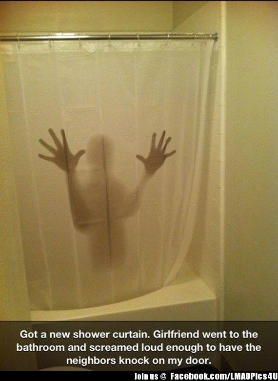 So Smooth Scary Shower Curtains Funny Amazing Showers