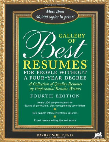 Gallery of Best Resumes: for People Without a Four-Year Degree by ...