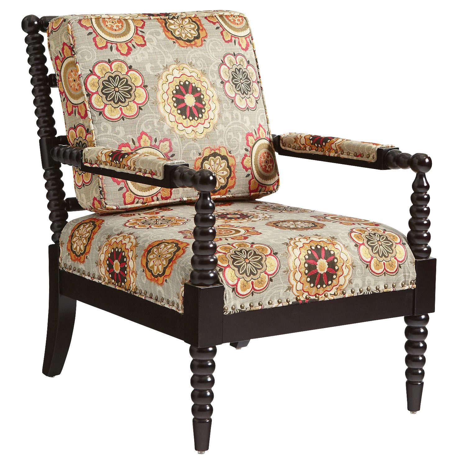 Spindle Arm Chair At Pier One    $500    Bobbin Chair   Tribal Red