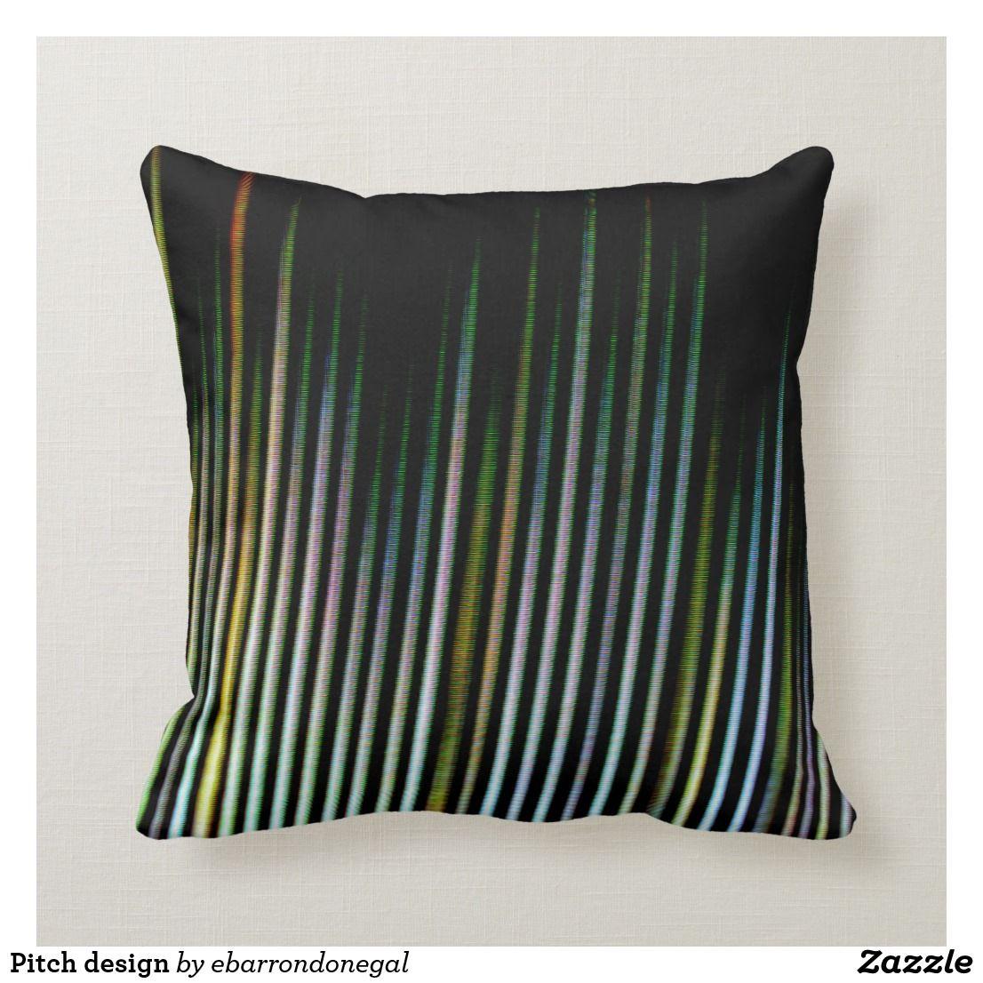 Pitch Design Throw Pillow Zazzle Com Throw Pillows Designer Throws Pillows
