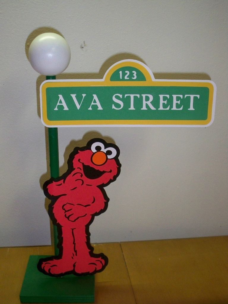 Sesame street lamp post centerpiece or decoration for your party sesame street lamp post centerpiece or decoration for your party aloadofball Choice Image