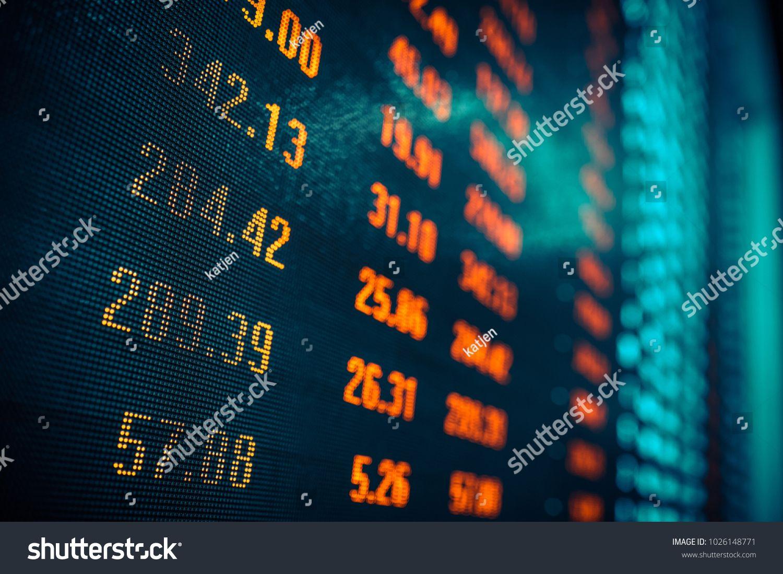 Stock Market Data In Big Screenmarket Stock Data Screen Marketing Data Stock Market Data Stock Market